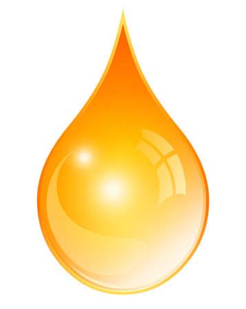Olie gele druppel Stock Illustratie