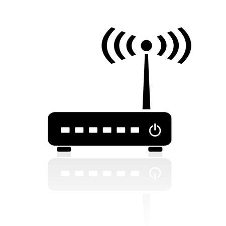 Router modem icon Vector
