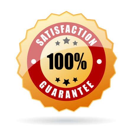 guarantee seal: Satisfaction guarantee icon