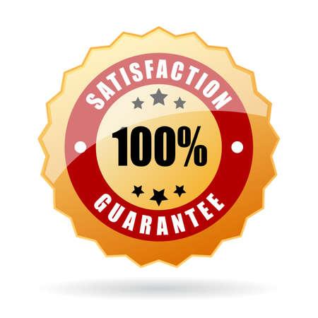 Zufriedenheit Garantie-Symbol