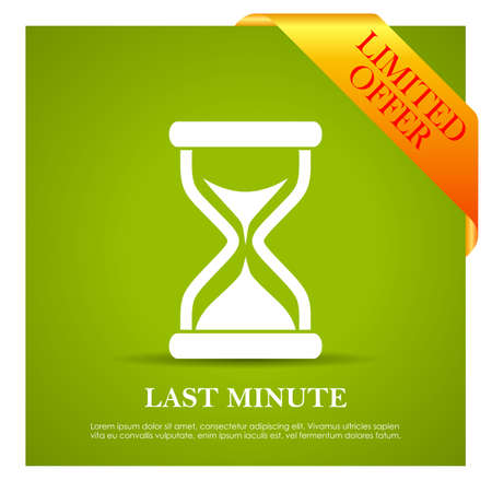 minute: Last minute offer poster Illustration