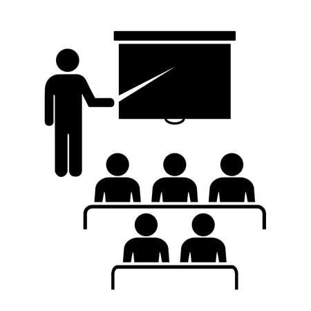 vzdělávací: Ikona Školení Ilustrace