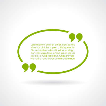 Oval quote textbox Vector