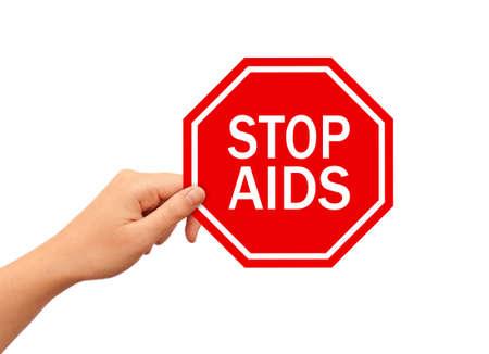 Stop AIDS sign photo