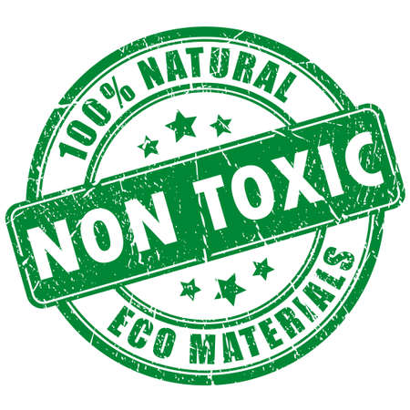 green chemistry: Non toxic product stamp Illustration