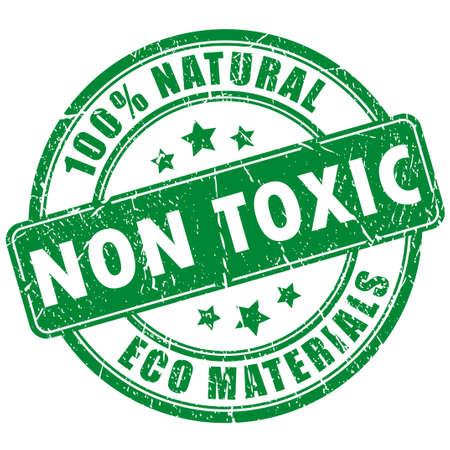 productos quimicos: Sello no tóxica producto Vectores