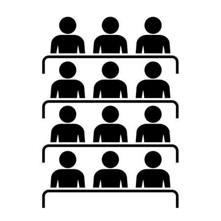 Icono de la Audiencia Ilustración de vector