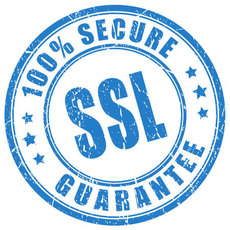 Ssl protection guarantee stamp Illustration