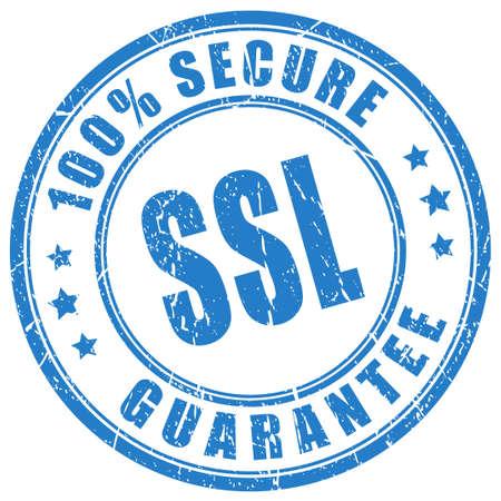 guarantee stamp: Ssl protection guarantee stamp Illustration