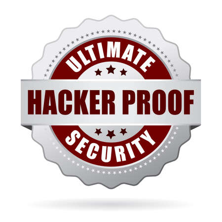 cyber business: Hacker proof security icon Illustration
