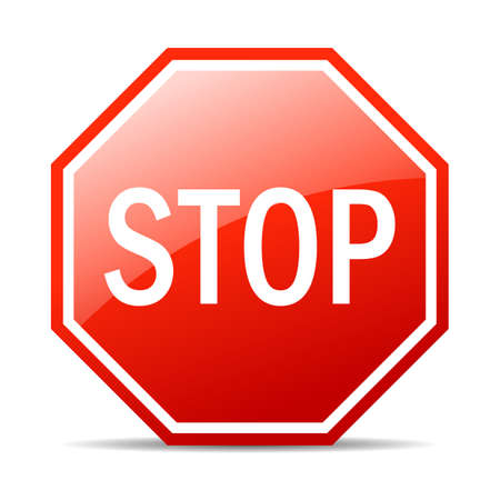Stop vectorteken Stock Illustratie