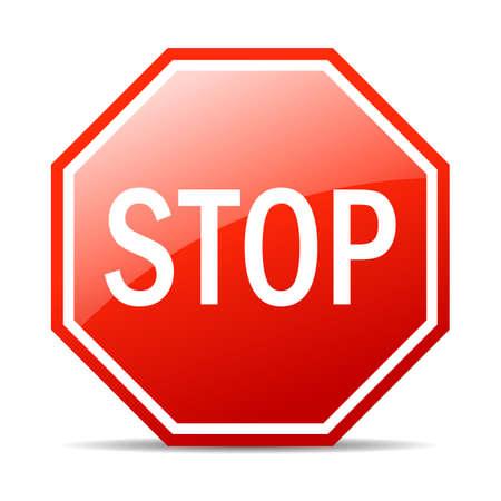 Stop vector sign Stock Illustratie
