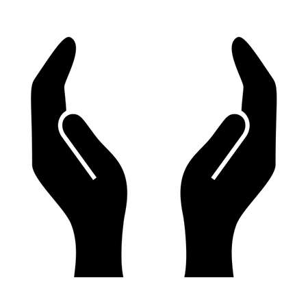 mãos: Mãos apoiando ilustração