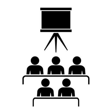 lecture hall: Cinema hall icon Illustration