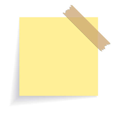 Square yellow sticker