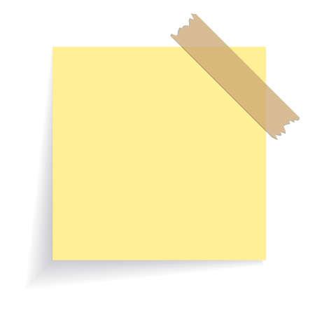 Square yellow sticker