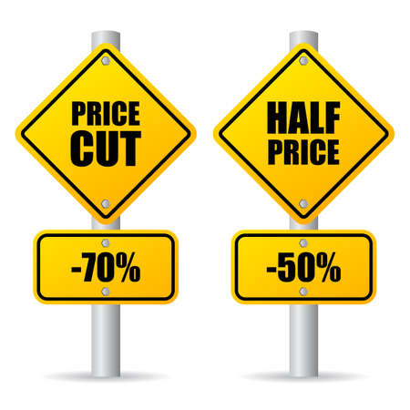 clearence: Discount price sign Illustration
