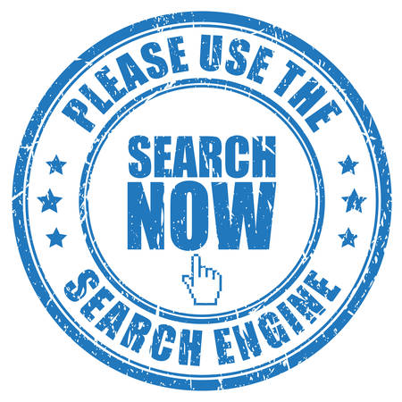 seeking assistance: Use the search engine stamp Illustration