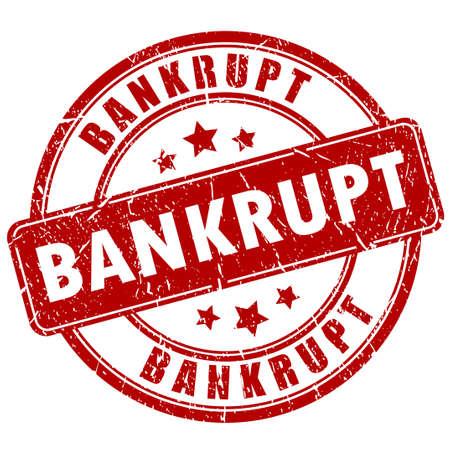 bankrupt: Bankrupt stamp Illustration