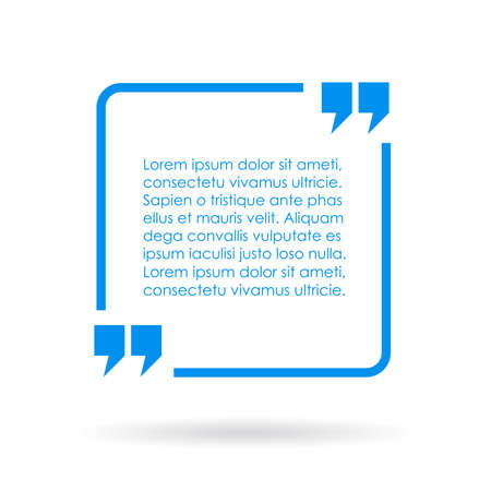 Blue quote text box Stock fotó - 42305826