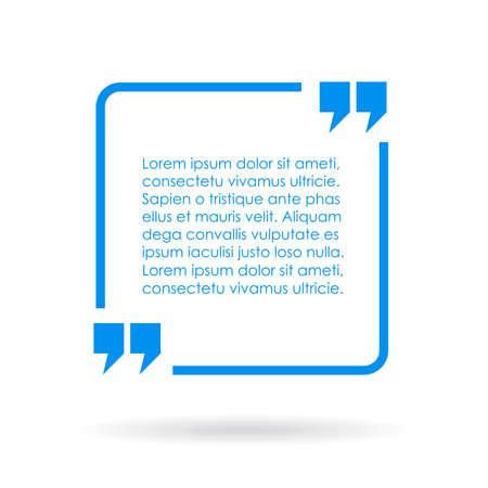 cotizacion: Cuadro de texto cita Azul Vectores