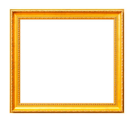 framed picture: Vintage photo frame isolated on white Stock Photo