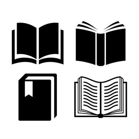 libros abiertos: Icono de libro