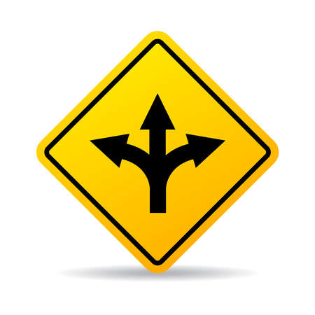fourchette  route: signe de la fourche de la route