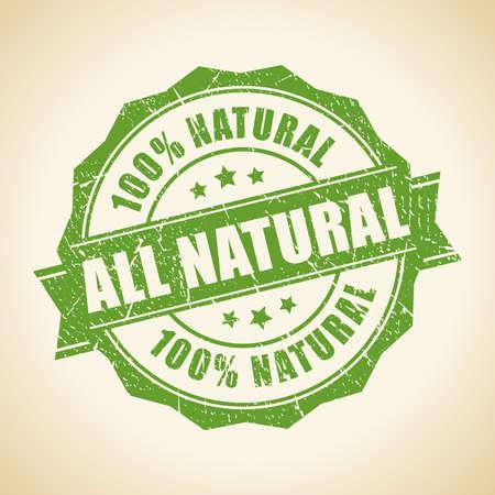 naturaleza: Todos sello verde natural Vectores
