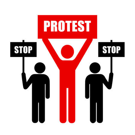 activists: Demonstration of protest