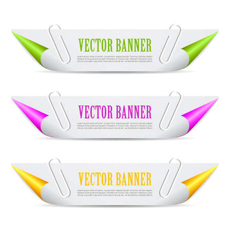 rolled: Paper header banner Illustration