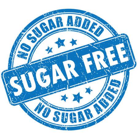 Sugar free rubber stamp  イラスト・ベクター素材