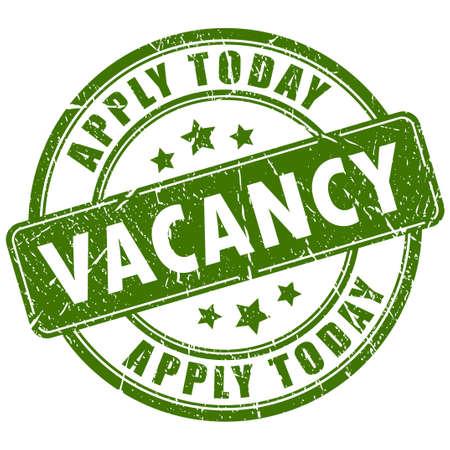 vacancy: Job vacancy stamp Illustration