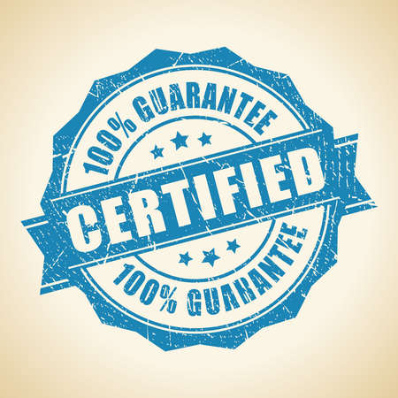 original: Certified guarantee stamp