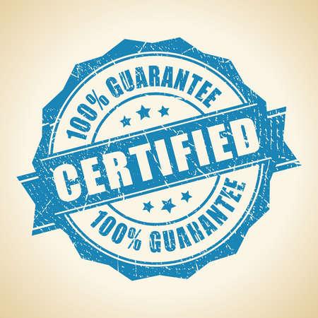 Certified guarantee stamp