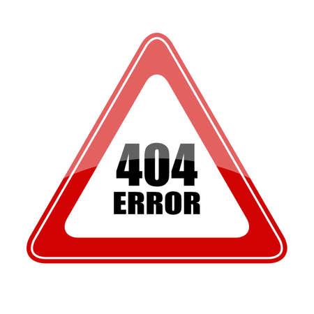 error: 404 error sign