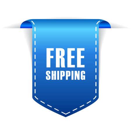 wrap vector: Free shipping icon