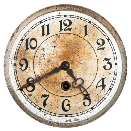 Old clock dial Stock Photo