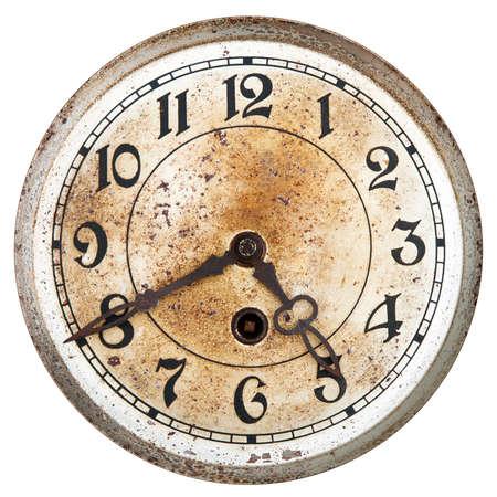 orologi antichi: Vecchio quadrante dell'orologio Archivio Fotografico