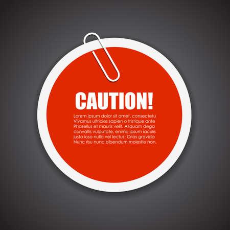 advertencia: Etiqueta de texto Precaución Vectores
