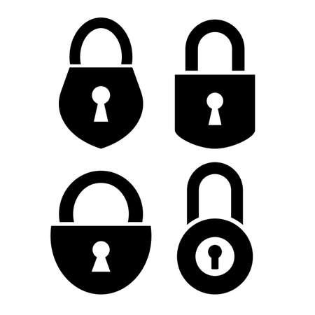 Padlock icons set