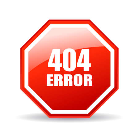 moved: 404 error glass icon Illustration