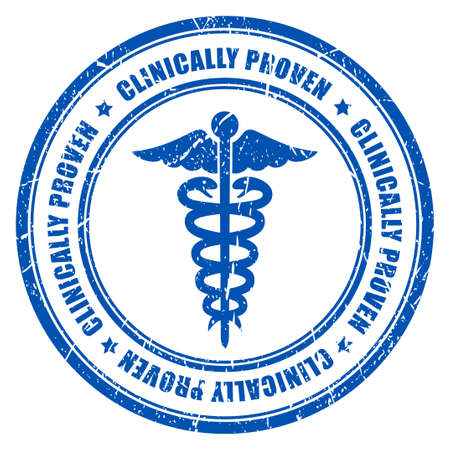 approved stamp: Clinically proven ink rubber stamp