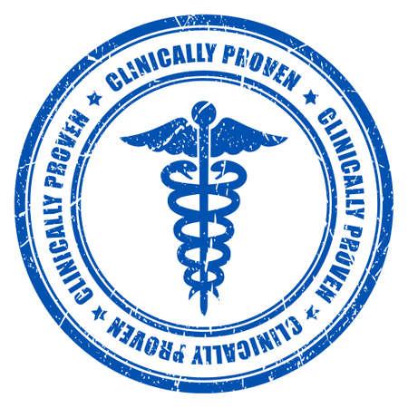 Klinisch bewezen ink rubber stamp