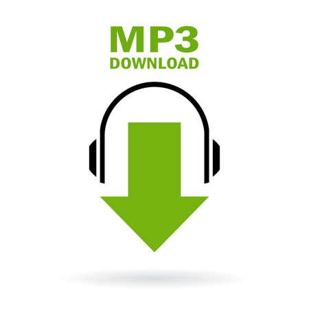 MP3 다운로드 아이콘 일러스트