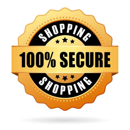 Bezpečný nákup icon Ilustrace