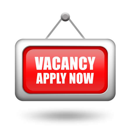 urgently: Job vacancy signboard Stock Photo