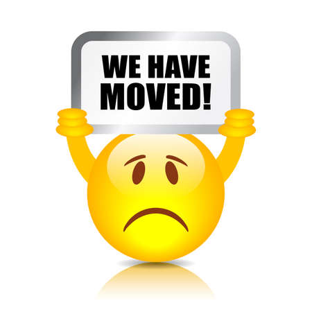 we have moved: We have moved sign
