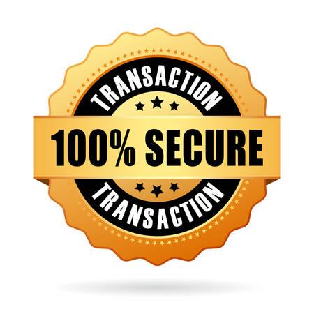 100 secure transaction icon Illustration