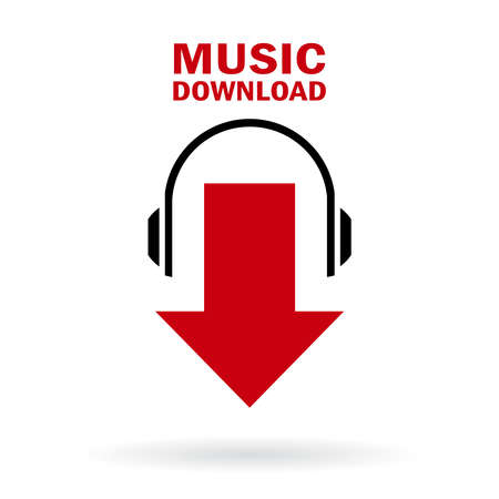 downloads: Music download icon Illustration
